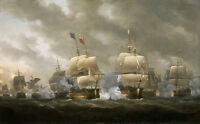 "perfect oil painting handpainted on canvas ""Battle of Quiberon Bay ""@NO8021"