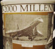 MILLENNIUM MUG CONCORDE, JOAN OF ARC, WW II, MT. EVEREST, MAYFLOWER, SHAKESPEARE