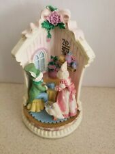 "Flopsy's Tea Room Bunny Corners Family Village BC04 1996 Easter Figurine  ""FLAW"""