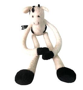 Vintage 2000 Toys R Us Animal Alley Black +White Cow Plush Rare VGC