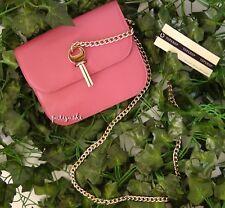 NWT TOPSHOP Amelia Leather Mini Cross Body Bag, Pink, $140