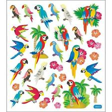Scrapbooking Crafts Stickers Sticker King Parrots Muti-Colors Trees Sand Repeats