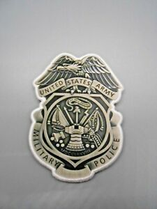 US Army Military Police MP Full Size Shield Insignia Patch Hook & Loop Obsolete
