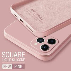 For iPhone 13 Pro Max 12 Pro Max Mini Full Cover Liquid Silicone Soft Phone Case
