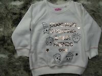 NEXT girls white Shopkins jumper  for age 11 years * combine post BRAND NEW C6-7
