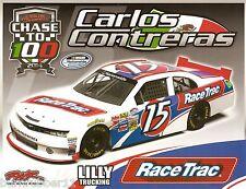 "2014 CARLOS CONTRERAS ""RACE TRAC"" #15 NASCAR NATIONWIDE SERIES POSTCARD"