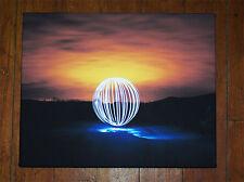 LONESOME ORB-Edizione Limitata in tela. LUCE Pittura, Arte Graffiti Sfera. UFO