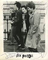 Sex Pistols Sid Vicious SIGNED Photo 1st Generation PRINT No'd + Certificate /4