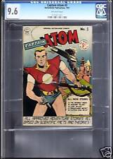 Cgc Best Nm+ 9.6 Captain Atom #3 Nationwide 1951 Owp Nr