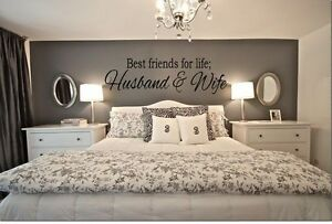 "BEST FRIENDS FOR LIFE HUSBAND & WIFE Wall Art Decal Quote Words Decor 23"" x 7"""