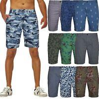 Mens Chino Shorts Bottoms Knee Length Straight Pants Cotton Casual Summer New