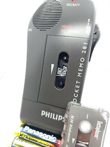 Philips Pocket Memo 281 MiniCassette Voice Recorder Dictaphone Voice Tracer