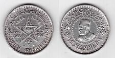 MOROCCO – SILVER 500 FRANCS XF COIN 1376 1956 YEAR Y#54 MOHAMMED V