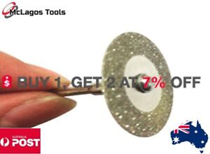 2 pcs  30,40, 50 or 60  Diamond Cutting Abrasive Discs Cut Off Blade for Dremel