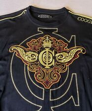 Coogi Men's Tee Shirt Graphic Embroidered Size XXL Black Embroidered