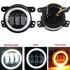 "for Jeep Wrangler LJ JK TJ Dodge 4"" 30W Led Fog Light DRL White Amber Halo Ring"