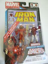 Marvel Universe SILVER CENTURION IRON MAN MANDARIN Comic Pack Figure Hasbro