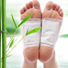 10pcs Natural Bamboo Vinegar Tsao Detox Foot Pad Patch Detoxify Toxins Adhesive