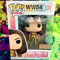 Wonder Woman Golden Armor Box Lunch Exclusive WW84 DC Comics Funko POP! #331
