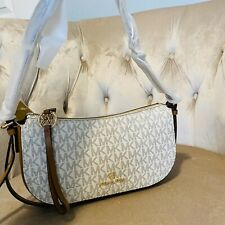 Michael Kors Camden XS Small Pouchette Zip Purse Bag Handbag Vanilla Signature