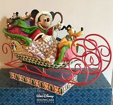 Jim Shore Christmas Disney Traditions Mickey Mouse Pluto Laughing All The Way