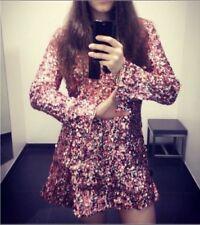 H&M CONSCIOUS EXCLUSIVE 2017 Rosa M 38 8 12 Paillettenkleid Kleid Dress New