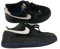 Nike Air Force 1 Low Black & White Royal Blue Bottoms  314192-041 Kids Sz 6.5Y