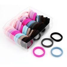 50 x Colorido Elastico Bandas de pelo de goma Soporte de cola de caballo pa B4Q4
