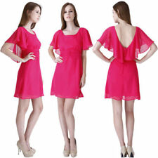 Chiffon Short Sleeve Dresses for Women with Blouson