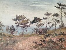 Antique French Impressionist Impasto Oil On Canvas Landscape Painting