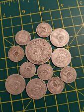 Bulk Job Lot Silver Coins sterling pre-1920 54g