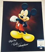 "BRET IWAN ""MICKEY MOUSE"" SIGNED METALLIC 16X20 PHOTO DISNEY BECKETT BAS COA 029"