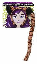 Tiger Ears Tail Costume Kit Headband Cosplay Adult Child Cat Orange Black Tony
