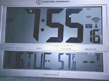 Control Co Traceable Giant Digit Radio Controlled Atomic Self Setting Clock 1087