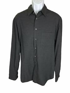 Armani Collezioni Dark Gray Long Sleeve Button Down Shirt Men's Size XL
