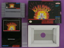Kablooey (Super Nintendo, 1992) with Box & Instruction Booklet