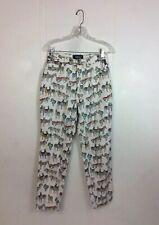 VERSACE High Waist Zebra Pants Made Italy Women's 8