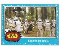 2015 Star Wars Journey To The Force Awakens #75 Battle in the forest Topps