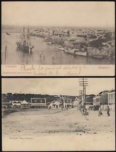 CURACAO Karibik 1902/17 AK Willemstad Overzijde+ Plaza gel. Maracaibo Venezuela