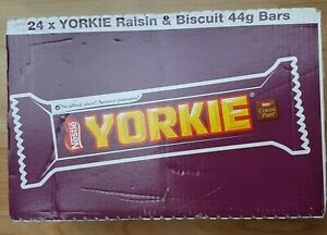YORKIE  RAISIN AND BISCUIT. FULL B0X OF 24 BARS. BEST BEFORE 06/2021.OUTDATED