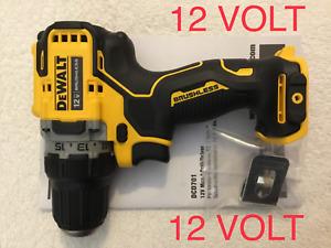 """New Dewalt Xtreme DCD701B 12V Max 3/8"""" Brushless 2 Speed Drill Driver Li-Ion"""