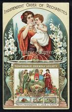 c.1908 Independent Order Of Rechabites IOR Temperance Friendly Society Postcard