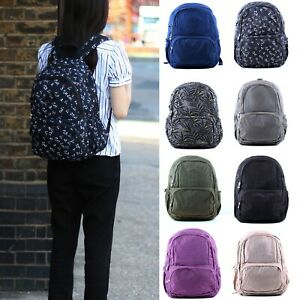 Ladies Large Nylon School Backpack Women's Shoulder Rucksack Back Pack