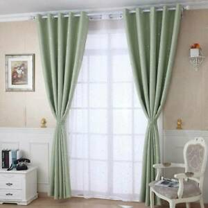 Star Printed Drape Window Curtain Panel Living Room Morden Sun Shade F
