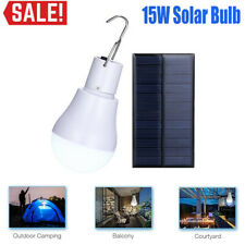 15W Portable Solar Powered LED Rechargeable Bulb Light Outdoor Camping Yard Lamp