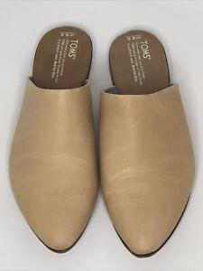 Toms Women's Jutti Slip On Mule Casual Shoe Tan Vegan Comfort Mules Size 9.5 US