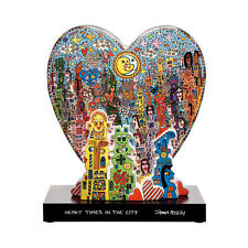 HEART TIMES IN THE CITY Skulptur limited edition James Rizzi Porzellan 26101951