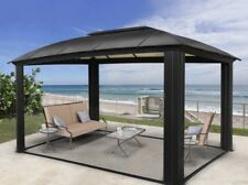 Siena 12' x 16' Hard Top Aluminum Gazebo with Screens, NEW SHIPS FROM FACTORY