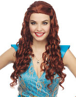Medieval Princess Womens Renaissance Long Curly Costume Wig
