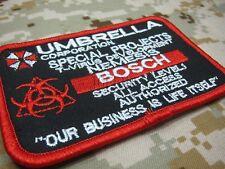 Custom name tapes Resident Evil Umbrella Corporation Badges Patch B1988